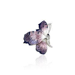 Nicole Barr Broche Vlinder Met Paars Emaille Amethist En Diamant