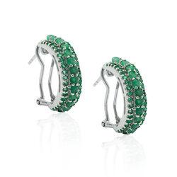 Zilveren Creolen Met Smaragd