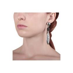 lange zilveren oorbellen Masai Raspini