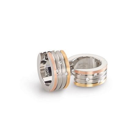 titanium creolen tricolor briljant 0592-03 Boccia