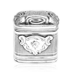 Antiek zilver lodereindoosje Bruinings