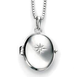 D For Diamond Collier Met Medaillon Met Kruisje P4253