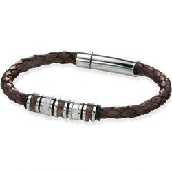 Fred Bennett Leren Armband Met Staal B4209