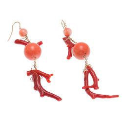 Gouden oorbellen bloedkoraal Marghera