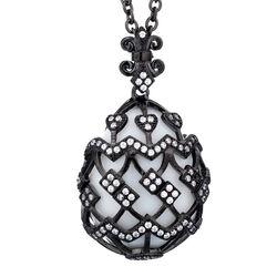 Tatiana Faberge Collier Met Hanger Agaat En Zirkoon