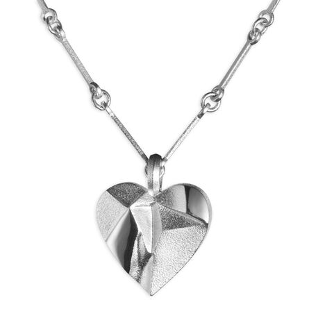 Lapponia zilveren ketting hart Foolish Heart