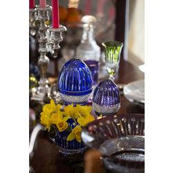 Maison Tatiana Faberge Blauw Kristal Ei Box Groot