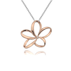 Hot Diamonds Collier Rose Bloem Met Diamant Dp612