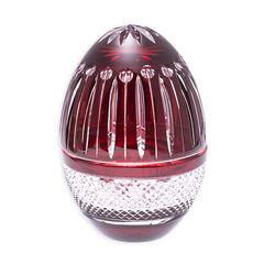 Tatiana Faberge Kristallen Egg Box Rood