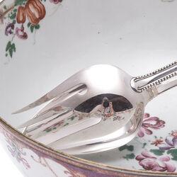 Zilveren slatang parelrand, antiek zilver Zilver.nl