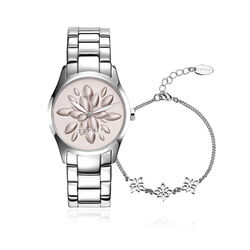 Esprit Stalen Horloge Met Armbandje