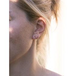 gouden oorbellen cirkel