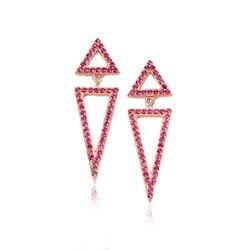 Elements Rose Vergulde Zilveren Oorbellen Roze Zirkonia