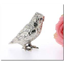 Zilver uiltje van 5 cm decoratie