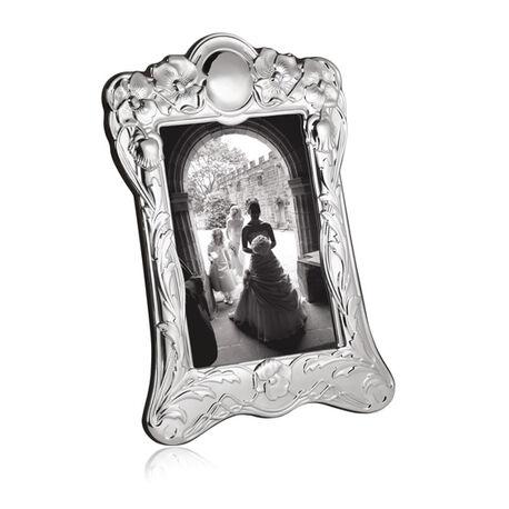Zilveren fotolijst art nouveau stijl an3c/w