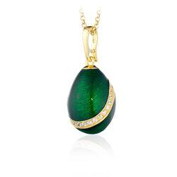 Tatiana Faberge Hanger Groen Emaille Zirkoon 23999
