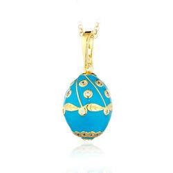 Verguld ei hanger met turkoois emaille Fabergé