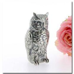 Zilveren uil als decoratie