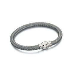 Fred Bennett Geweven Grijs Nylon Armband Met Magneetsluiting B4735