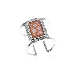 Diluca zilveren ring camee zirkonia