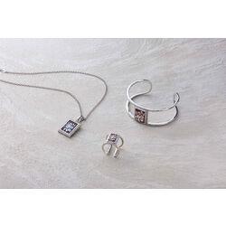 Zilveren ring camee met zirkonia Diluca