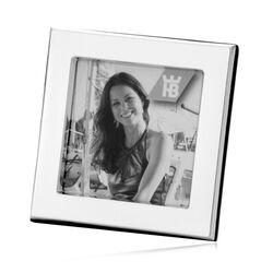 Vierkante zilveren fotolijst 9 X 9