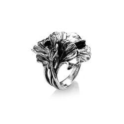 Zilveren ring Ginkgo van Giovanni Raspini