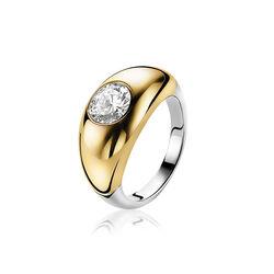 Zinzi Ring Bicolor Zirkonia Zir 1148y