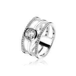 Zinzi Zilveren Trio Ring Zir1261