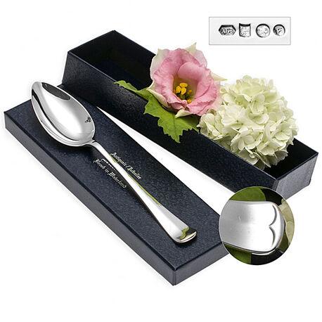 Zilver kinderlepel 16 cm model haags lofje