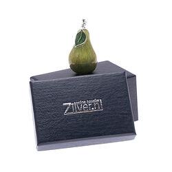 Zilveren miniatuur peer met emaille Saturno bij Zilver.nl