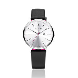 Zinzi Retro Horloge Zwart Wit Ziw402