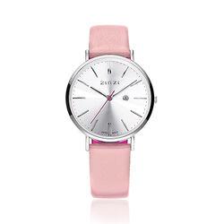 Zinzi Retro Horloge Zacht Roze Band Ziw402r