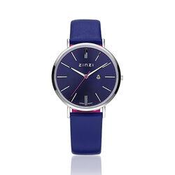 Zinzi Retro Horloge Blauwe Wijzerplaat Ziw403