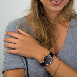 Zwart Zinzi horloge rosé vergulde kast