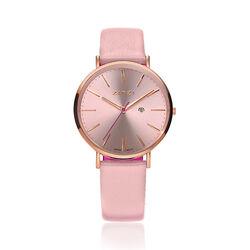 Zinzi Retro Horloge Rose Kast Roze Band Ziw405r