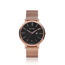 Zinzi Retro Horloge Zwarte Wijzerplaat Ziw404m