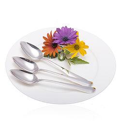 Set van 3 zilveren kleine maat dessertlepels