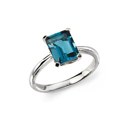 Elements 9 krt ring London blauw topaas