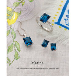 Witgouden ring london blauw topaas Elements