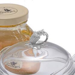 Glazen Jampotje Met Een Zilveren Knop Framboos