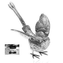 Zilveren tafelstuk kolibrie