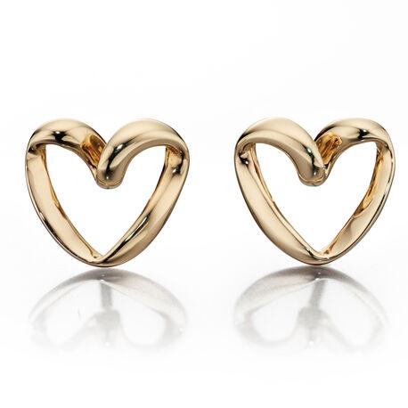 Gouden oorbellen hart Fiorelli Embrace