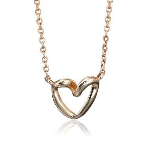 Gouden ketting met hart Fiorelli Embrace