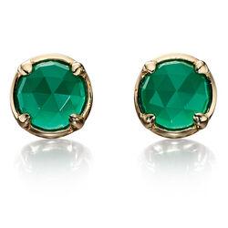 Gouden oorbellen groen onyx Fiorelli