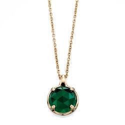 Fiorelli 9 krt collier Luminary groen onyx Gn253