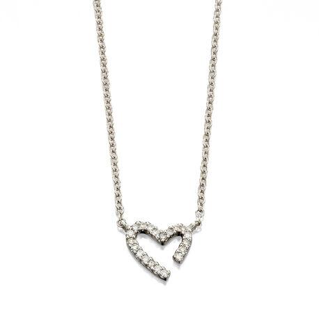 collier met harthanger met diamanten GN243 Fiorelli