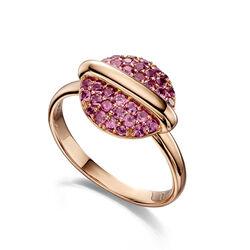 Roségouden ring Fiorelli Eclipse granaat