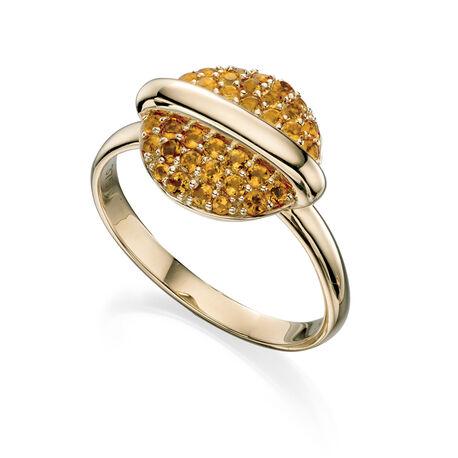 Gouden ring met citrien Fiorelli Eclipse