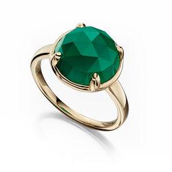 Fiorelli 9 krt ring groen onyx